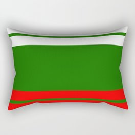 Team Colors 9...red , green  and white Rectangular Pillow