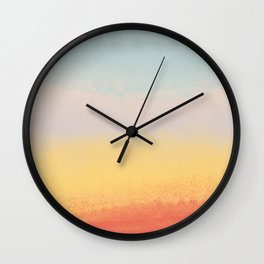 Ceramic Sunset // Multi Color Speckled Drip Summer Beach California Surf Vibes Wall Hanging Design Wall Clock