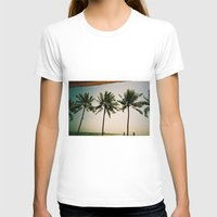 indonesia T-shirts featuring La Luciola palms, Bali, Indonesia  by Kim Barton