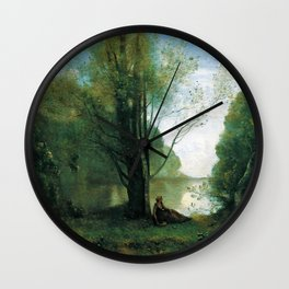 Jean-Baptiste Camille Corot - The Solitude. Recollection Of Vigen, Limousin Wall Clock