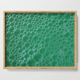 Champagne Bubbles Collection: #2 - Emerald Green Serving Tray
