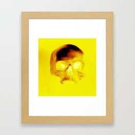 Yellow Skull Framed Art Print