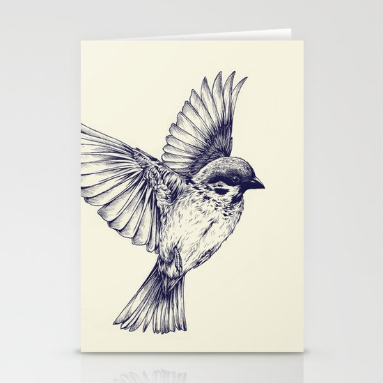 lost bird Stationery Cards