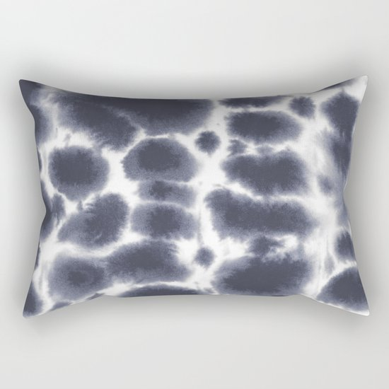 Dye Dots Stone Rectangular Pillow