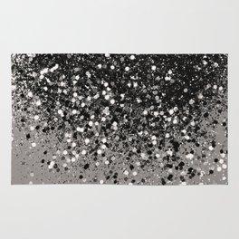 Silver Gray Glitter #1 #shiny #decor #art #society6 Rug