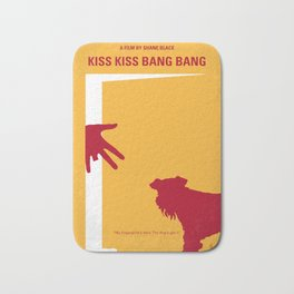 No452 My Kiss Kiss Bang Bang minimal movie poster Bath Mat