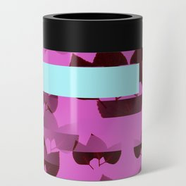 Very Pink Leafy Collage Can Cooler