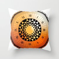 persona 4 Throw Pillows featuring Persona Q Clock by Laharl