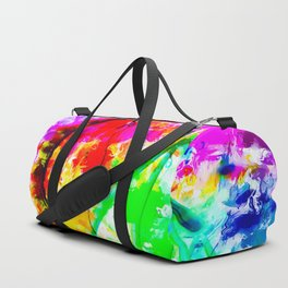 ferris wheel in the city at Las Vegas, USA with colorful painting abstract background Duffle Bag