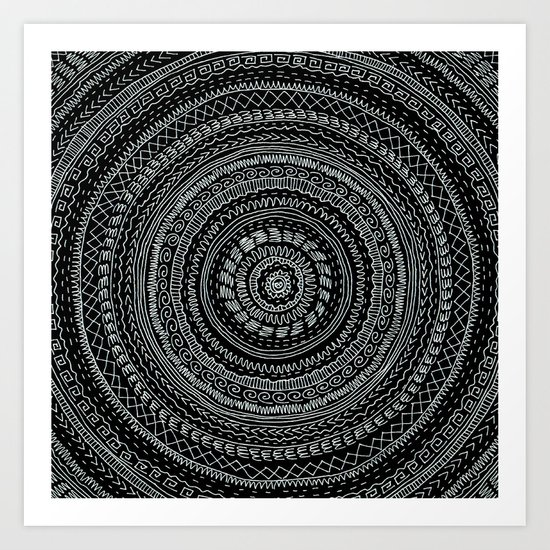 Lines invert. Art Print