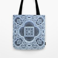 frozen Tote Bags featuring Frozen by Lyle Hatch