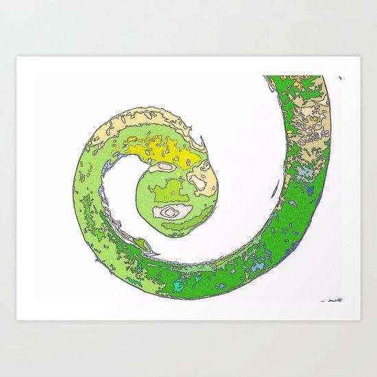 Chameleon's Tail Art Print