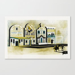 Dawson City of Gold Canvas Print