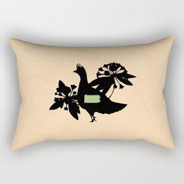 Pennsylvania - State Papercut Print Rectangular Pillow