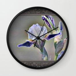 Miniature Tall Bearded Iris named Consummation Wall Clock