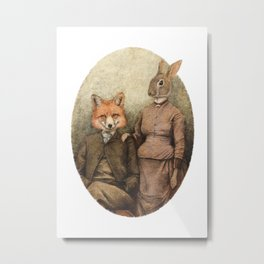 The Foxes Metal Print