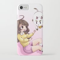 puppycat iPhone & iPod Cases featuring bee and puppycat by Diogo Dornelles