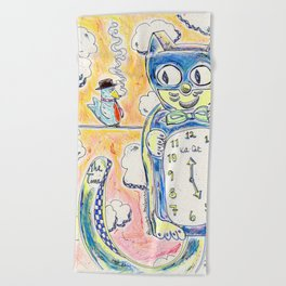 Grab Me While We Still Have The Time Beach Towel