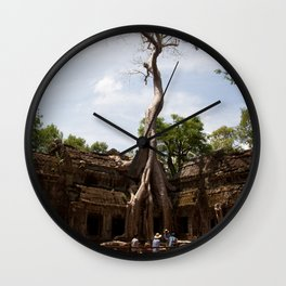 Ancient trees and Ancient Stories Wall Clock