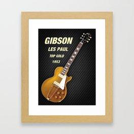Gibson les paul top gold 1953 Framed Art Print