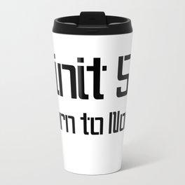 init 5 (black) Travel Mug