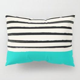 Aqua & Stripes Pillow Sham