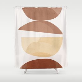abstract minimal 7 Shower Curtain