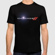 Dodge Mens Fitted Tee Black 2X-LARGE