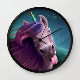 Sassy Unicorn Wall Clock