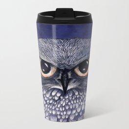 La Sagesse du Hibou (The Blue Owl) Metal Travel Mug