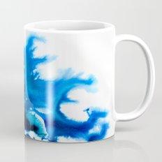 Paint 8 abstract indigo watercolor painting minimal modern canvas art affordable home decor trendy Coffee Mug