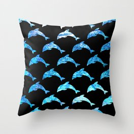 Dolphin Shimmer Throw Pillow