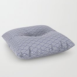 Japanese Koinobori fish scale Delft Blue Floor Pillow