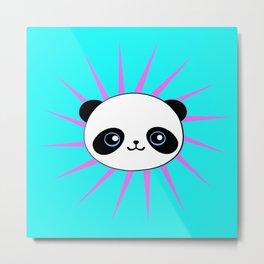 Wild Rockstar Panda Metal Print