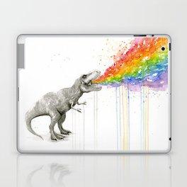 T-Rex Rainbow Puke - Facing Right Laptop & iPad Skin