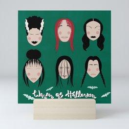 Women of Halloween- Ultramine Green Mini Art Print