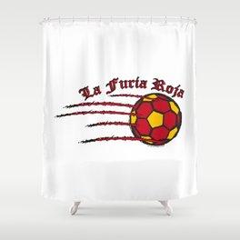 Spain La Furia Roja (The Red Fury) ~Group B~ Shower Curtain