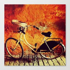 Yellow Cycle Canvas Print