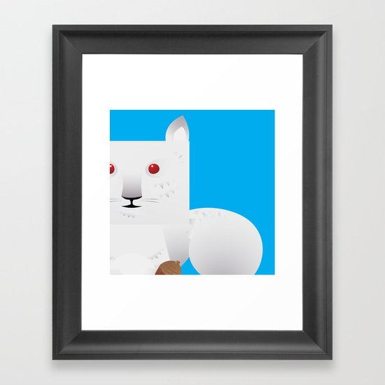 Cute Squirrel Framed Art Print