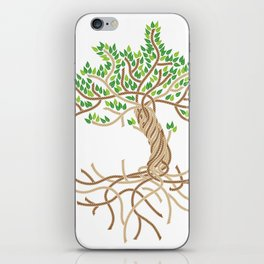Rope Tree of Life. Rope Dojo 2017 white background iPhone Skin