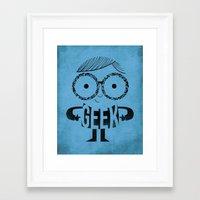 geek Framed Art Prints featuring GEEK by Farnell