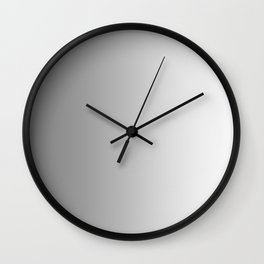 Gray to White Vertical Linear Gradient Wall Clock