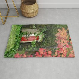 The Red Outhouse Door Rug