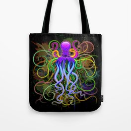 Octopus Psychedelic Luminescence Tote Bag