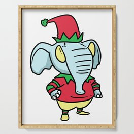 Elves Christmas fable gift Gnome dwarfs Serving Tray