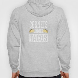 Cornets and Tacos Funny Taco Band Distressed Hoody