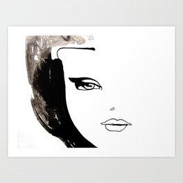 Beauty face Art Print