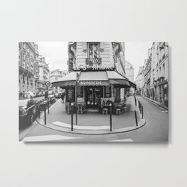 Brasserie Paris Metal Print