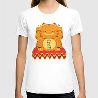 garfield T-shirts featuring Lucky Garfield by Ashley Hay