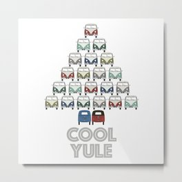 wishing you a cool yule this Christmas time! Metal Print